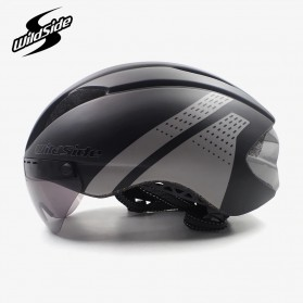 YOHOO-BIKE Helm Sepeda Cycling Bike Helmet Visor Removable Lens - TT-32 - Black/Red - 6