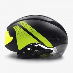 YOHOO-BIKE Helm Sepeda Cycling Bike Helmet Visor Removable Lens - TT-32 - Black/Green