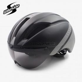 YOHOO-BIKE Helm Sepeda Cycling Bike Helmet Visor Removable Lens - TT-32 - Black/Green - 2