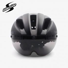 YOHOO-BIKE Helm Sepeda Cycling Bike Helmet Visor Removable Lens - TT-32 - Black/Green - 4