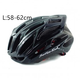 SCOHIRO Helm Sepeda Ultralight Cycling Bike Cap - STT01 - Black