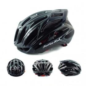 SCOHIRO Helm Sepeda Ultralight Cycling Bike Cap - STT01 - Black - 3