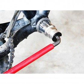 Kunci Crank Rantai Sepeda Wheel Spoke Spanner Wrench Repair Kit - MO1804 - Silver - 6
