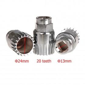 Kunci Crank Rantai Sepeda Wheel Spoke Spanner Wrench Repair Kit - MO1804 - Silver - 9