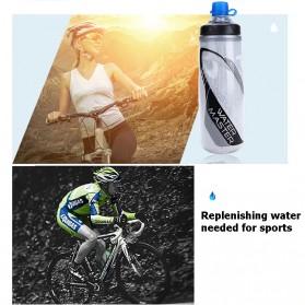 Garrafa Botol Minum Olahraga Sepeda Sport Bicycle Bottle 620ml - U0090 - Black - 11