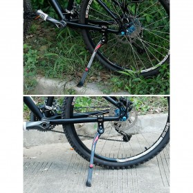Easydo Standar Parkir Samping Sepeda Bicycle Side Kickstand 34-41cm - H11 - Black/Silver - 11