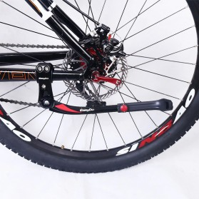 Easydo Standar Parkir Samping Sepeda Bicycle Side Kickstand 34-41cm - H11 - Black/Silver - 6