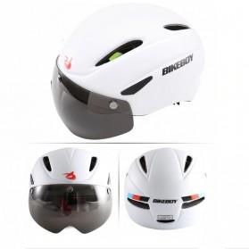 BIKEBOY Helm Sepeda Aero EPS Magnetic Visor Removable Lens - 11002 - Black - 2