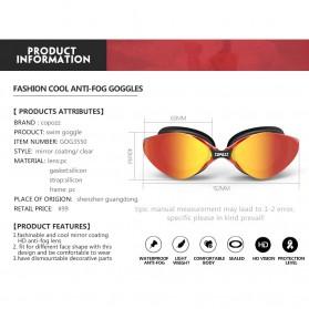 Kacamata Renang Anti Fog UV Protection - GOG-3551 - Red - 4