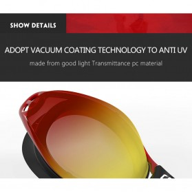 Kacamata Renang Anti Fog UV Protection - GOG-3551 - Red - 9