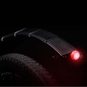 ROBESBON Spakbor Sepeda Depan & Belakang Telescopic Folding MTB Bike Fender with Tail Light - YQ078 - Black - 2