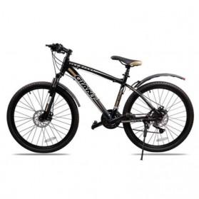 ROBESBON Spakbor Sepeda Depan & Belakang Telescopic Folding MTB Bike Fender with Tail Light - YQ078 - Black - 4
