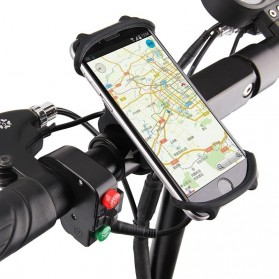 Gaiby Holder Smartphone Sepeda Bicycle Mount Universal Silicone - B07 - Black - 2