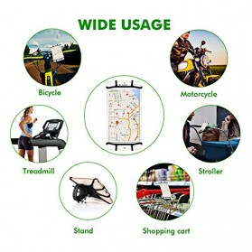 Gaiby Holder Smartphone Sepeda Bicycle Mount Universal Silicone - B07 - Black - 6