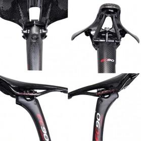 PROMEND Tiang Dudukan Jok Sepeda Full Carbon Seatpost 400 x 31.6mm - EC90 - Black - 6