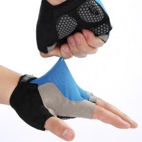 HUWAI Sarung Tangan Sepeda Cycling Sport Riding Gloves Half Finger XL - HW-172 - Orange - 3