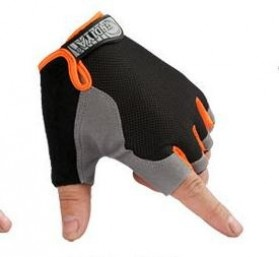 HUWAI Sarung Tangan Sepeda Cycling Sport Riding Gloves Half Finger L - HW-172 - Orange