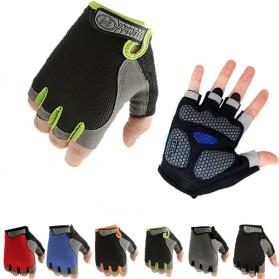 HUWAI Sarung Tangan Sepeda Cycling Sport Riding Gloves Half Finger L - HW-172 - Orange - 2