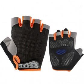 HUWAI Sarung Tangan Sepeda Cycling Sport Riding Gloves Half Finger L - HW-172 - Orange - 4