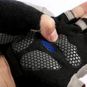 HUWAI Sarung Tangan Sepeda Cycling Sport Riding Gloves Half Finger L - HW-172 - Orange - 5