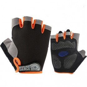 HUWAI Sarung Tangan Sepeda Cycling Sport Riding Gloves Half Finger L - HW-172 - Black - 4