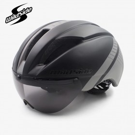 CAIRBULL Helm Sepeda Magnetic Visor Removable Lens - Size L (NO LOGO) - Black/Gray