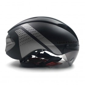 CAIRBULL Helm Sepeda Magnetic Visor Removable Lens - Size L (NO LOGO) - Black/Gray - 2