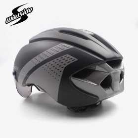 CAIRBULL Helm Sepeda Magnetic Visor Removable Lens - Size L (NO LOGO) - Black/Gray - 3