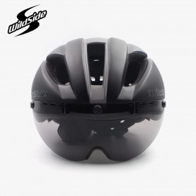 CAIRBULL Helm Sepeda Magnetic Visor Removable Lens - Size L (NO LOGO) - Black/Gray - 4