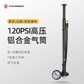 Pompa Ban Sepeda Serbaguna - CYCLINGBOX Pompa Angin Ban Sepeda Portable 120PSI - BG-1611 - Black