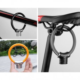 CYCLINGBOX Gembok Sepeda Cable Ring 110mm - BG-8238 - Black