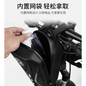 Wildman Tas Sepeda Handlebar Bag Eva Hard Case Waterproof - BG-0812 - Black - 2