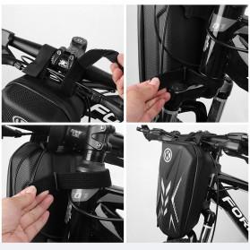 Wildman Tas Sepeda Handlebar Bag Eva Hard Case Waterproof - BG-0812 - Black - 3