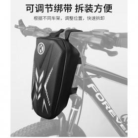 Wildman Tas Sepeda Handlebar Bag Eva Hard Case Waterproof - BG-0812 - Black - 4
