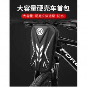 Wildman Tas Sepeda Handlebar Bag Eva Hard Case Waterproof - BG-0812 - Black - 5