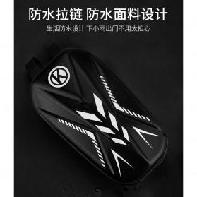 Wildman Tas Sepeda Handlebar Bag Eva Hard Case Waterproof - BG-0812 - Black - 6