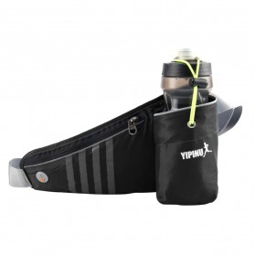 YIPINU Tas Pinggang Olahraga Lari Running Bag dengan Holder Botol - RUN031A - Black - 1