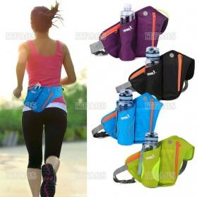 YIPINU Tas Pinggang Olahraga Lari Running Bag dengan Holder Botol - RUN031A - Black - 8