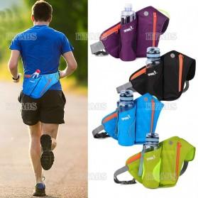 YIPINU Tas Pinggang Olahraga Lari Running Bag dengan Holder Botol - RUN031A - Black - 9