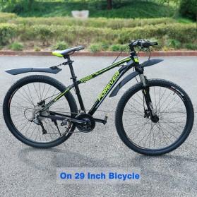 Deemount Spakbor Sepeda Depan & Belakang MTB Bicycle Mudguard - MDG-007 - Black - 6
