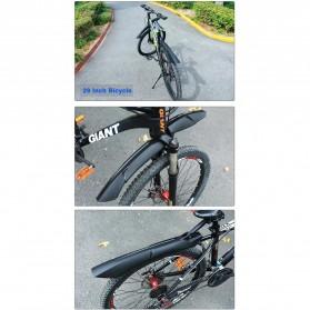 Deemount Spakbor Sepeda Depan & Belakang MTB Bicycle Mudguard - MDG-007 - Black - 7