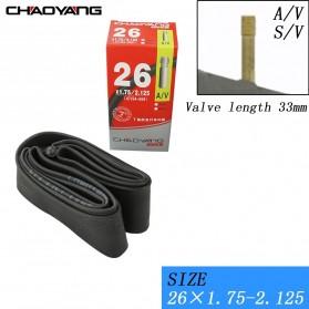 CHAOYANG Ban Dalam Sepeda Bicycle Inner Tire 26x1.75-2.1 33mm A/V - RMT1 - Black