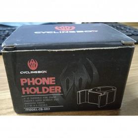 CYCLINGBOX Holder Smartphone Sepeda Aluminium Invisible Handlebar Bracket Anti Slip - CB-683 - Black - 8