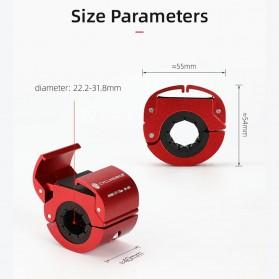 CYCLINGBOX Holder Smartphone Sepeda Aluminium Invisible Handlebar Bracket Anti Slip - CB-683 - Black - 3