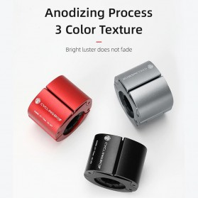 CYCLINGBOX Holder Smartphone Sepeda Aluminium Invisible Handlebar Bracket Anti Slip - CB-683 - Black - 4