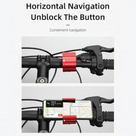 CYCLINGBOX Holder Smartphone Sepeda Aluminium Invisible Handlebar Bracket Anti Slip - CB-683 - Black - 5