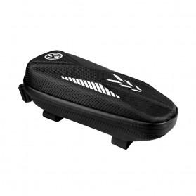 EWBOWLER Tas Sepeda Upper Tube Hard Shell Zipper Waterproof - BG-0811 - Black
