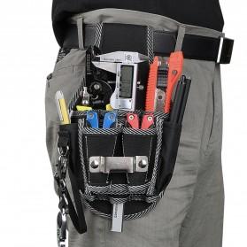 NICEYARD Tas Pinggang Perkakas Tukang Serbaguna Waist Pocket Tool Bag - 15020 - Black/Red - 1