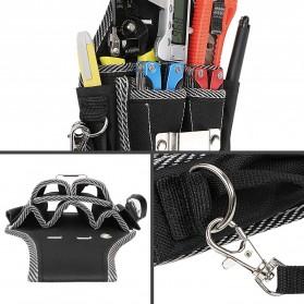 NICEYARD Tas Pinggang Perkakas Tukang Serbaguna Waist Pocket Tool Bag - 15020 - Black/Red - 5