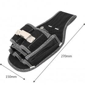NICEYARD Tas Pinggang Perkakas Tukang Serbaguna Waist Pocket Tool Bag - 15020 - Black/Red - 6